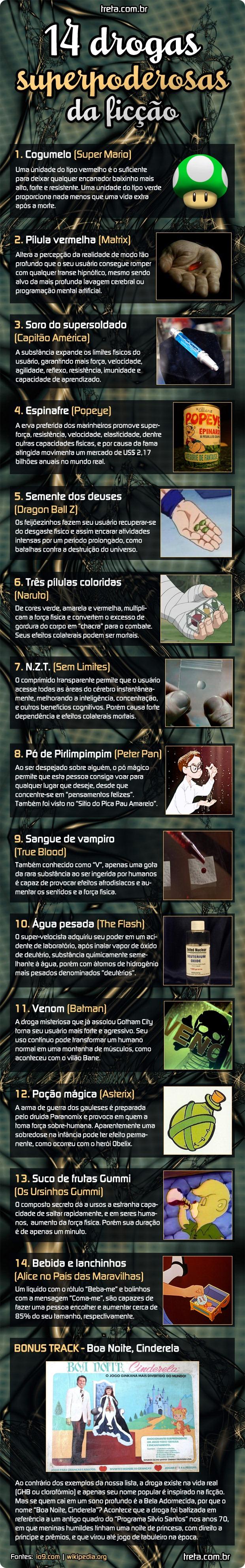 14 drogas mais poderosas da ficção.